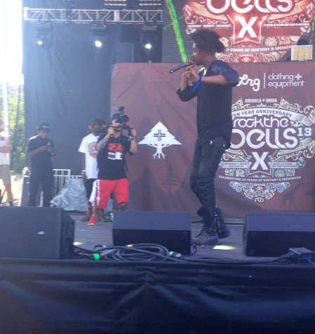 Danny Brown during his set at Rock the Bells